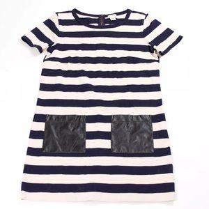 J. Crew Factory Stripe Vegan Leather Dress XXS